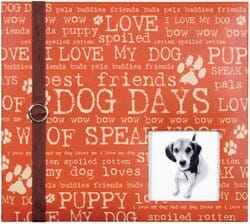 Colorbok: Postbound Album With Window 8x8inch - Dog