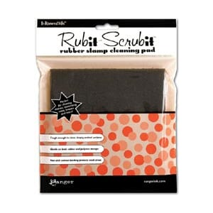 Inkssentials Rub-It Scrub-It Rubber Stamp Cleaning Pad