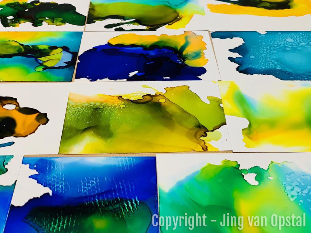 YUPO PAPER - YUPO - ALKOHOLBLEKK - ALCOHOL INK - COPIC VARIOUS INK - COPIC REFILL - 3.jpg