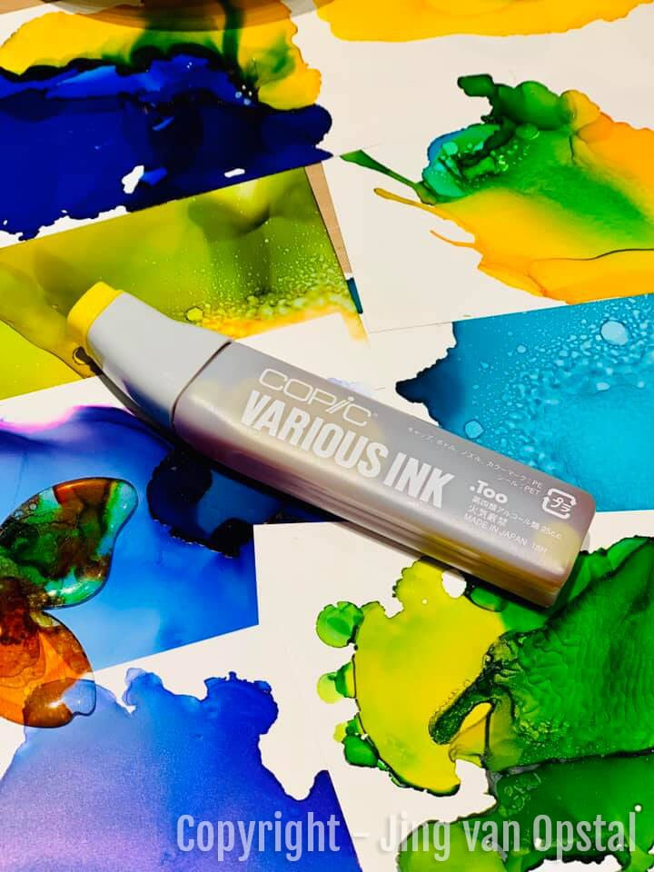 YUPO PAPER - YUPO - ALKOHOLBLEKK - ALCOHOL INK - COPIC VARIOUS INK - COPIC REFILL - 8.jpg