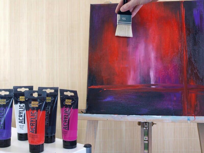 Nytt Lerret med ulike maleteknikker - HOBBYKUNST NORGE KQ-93