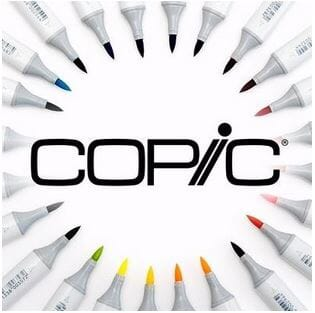 COPIC MARKERS - COPIC SKETCH - COPICS - COPIC TUSJER - COPICS TUSJER - ALKOHOLBASERTE TUSJER - PROMARKER - FARGELEGGING - 1.JPG