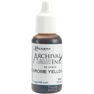 Ranger: Chrome Yellow - Archival Reinker .5 Ounce