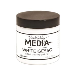 Dina Wakley: White - Media Gesso