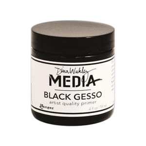 Dina Wakley: Black - Media Gesso
