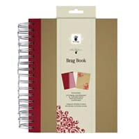 Fancy Pants: Spiral Brag Book - Red, 7x9inch