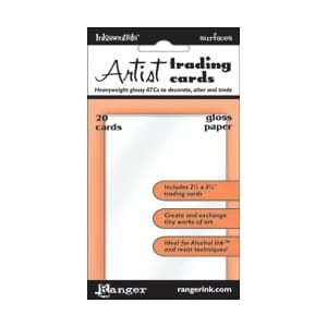 Inkssentials: Surfaces Gloss Paper ATC's
