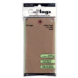 Inkssentials: Craft Tags #12 - Kraft Surfaces 10/Pk