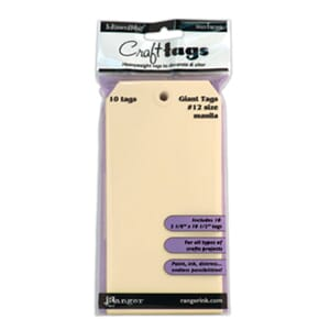Inkssentials: Craft Tags #12 - Manila Surfaces 10/Pk