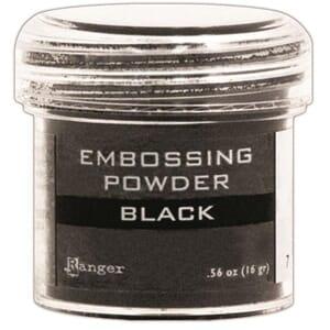Ranger: Black - Embossing powder 1oz