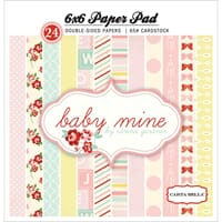 Echo Park Paper: Baby Mine Girl Cardstock Pad 24/Sheets