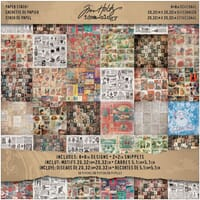 Tim Holtz: Seasonal Collage Paper Pad 8x8 - Idea-Ology