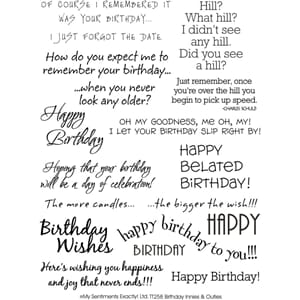 My Sentiments: Birthday Clear Stamps