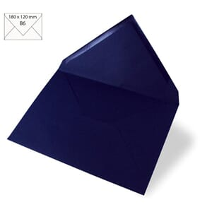 Konvolutt B6 120x180mm - midnight blue, 5 stk