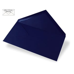 Konvolutt DIN Long 110x220mm -  midnight blue, 5 stk