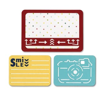 Sizzix: Smile For The Camera- Thinlits Dies