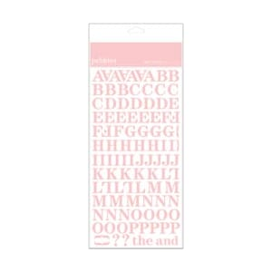 Pebbles: New Girl - ABC Stickers Baby Pink Glitter
