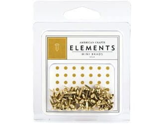 Am.Crafts: Elements Mini Brads - Gold 48/Pk