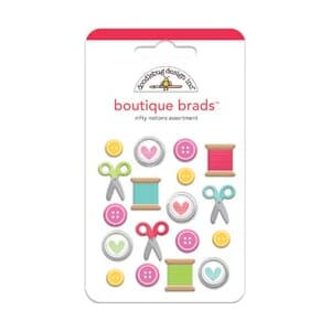Doodlebug: Nifty Notions Boutique Brads 18/Pkg