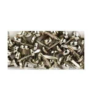Am.Crafts: Elements Mini Brads - Silver  48/Pk.