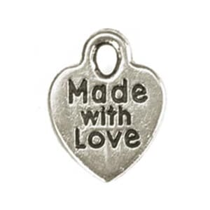 Darice: Silver Made With Love - Metal Charms 75/Pkg