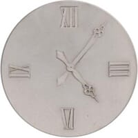 FabScraps: Clock - Grey Chipboard Die-Cut