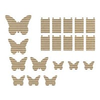 JilliBean Soup: Corrugated Shapes - Butterflies 20/Pk