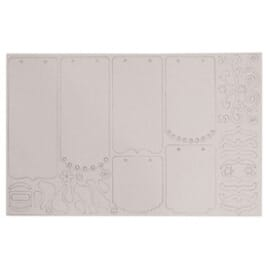Maya Road: Chipboard Sheets 8x12inch - Mini Scrolls + ringer