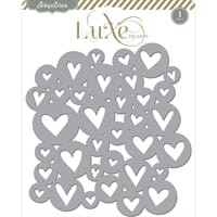 Pink Paislee: Hearts - Luxe Metallic Chipboard Placemat