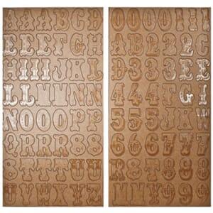 Tim Holtz: Kraft Resist, Alphas and Numbers - Idea-Ology