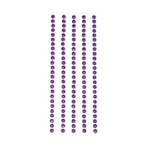 Metal Stickers: Nailheads 3mm - Purple 125stk