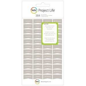 Project Life: Grey Day Stickers