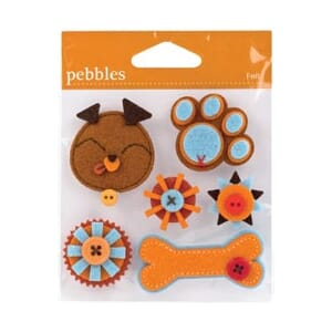 Pebbles: Cats & Dogs Felt Stickers - Dog