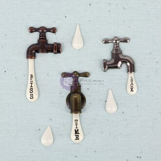Prima: Vintage Water Taps - Junkyard Findings Metal Embel.