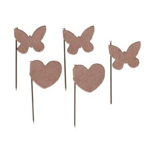 Maya Road: Hearts & Butterflies - Vintage Kraft Flag Pins