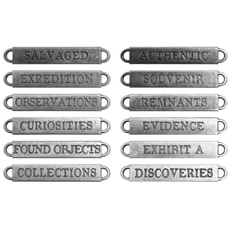 Tim Holtz: Observations Metal Word Bands 12/Pkg - Idea-Ology