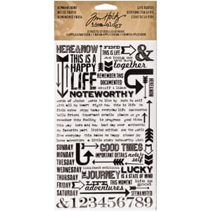 Tim Holtz: Life Quotes Rubs Rub-Ons - Idea-Ology