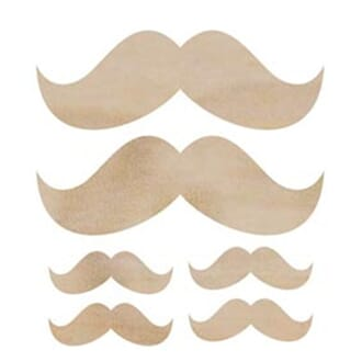 Kaisercraft: Moustache - Wood Flourishes, 6 stk