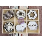 Prima: Free Spirit - Laser Cut Wood Icons In A Box