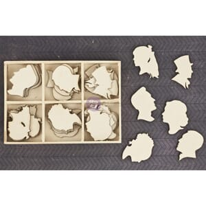 Prima: Silhouettes - Laser Cut Wood Icons In A Box