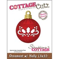 CottageCutz: Ornament With Holly Made Easy - CottageCutz