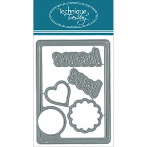 Technique Tuesday: Home Circle Card - DIY Dies