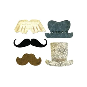 Sizzix: Top Hats & Mustaches - Sizzix Thinlits Dies 5/Pkg