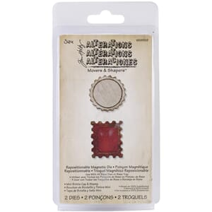 Sizzix: Mini Bottle Cap & Postage Stamp - Mov. & Shap.Magn.