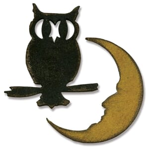 Sizzix: Mini Owl & Crescent Moon - Mov. & Shapers Mag. Dies