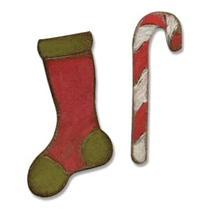 Sizzix: Stocking & Candy Cane - Mov. & Shapers Mag