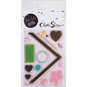 AHA Arts: DIY Chevron & Tags - Clear Stamps
