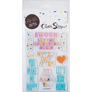 AHA Arts: Love Sentiments - Clear Stamps