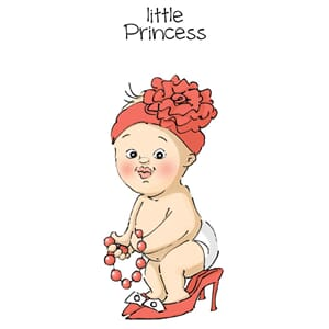 Art Impressions: Princess - Little People Cling Rubber Stamp
