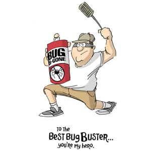 Art Impressions: Bug Buster - Father's Day Cling  Stamp